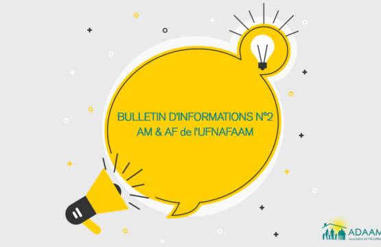Bulletin d'infos n°2 AM et AF de l'UFNAFAAM