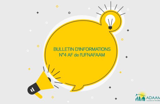 Bulletin d'infos n°4 AF de l'UFNAFAAM