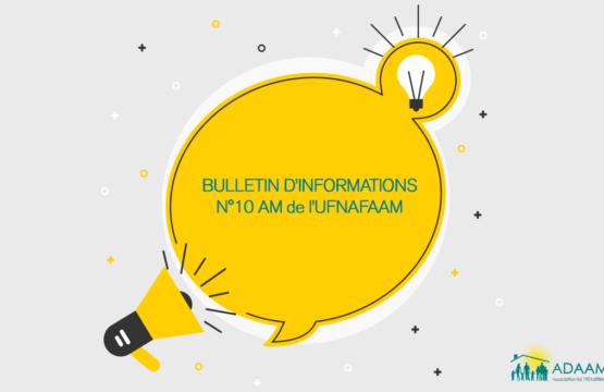 Bulletin d'infos n°10 AM de l'UFNAFAAM